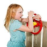 Unbekannt KBT Lenkrad Rot mit gelber Hupe für Spielgeräte, Spieltürme, Stelzenhäuser,...
