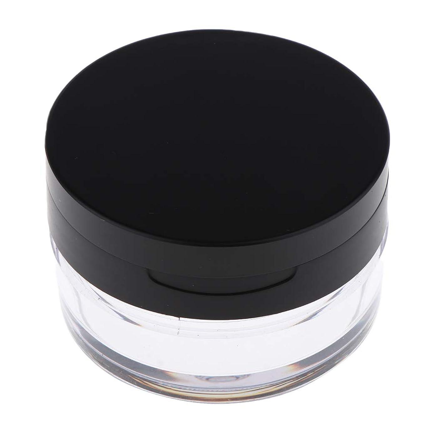 エスカレート組ポットCUTICATE コスメ用詰替え容器 ルースパウダーボックス ルースパウダーケース 全2色 - ブラックL