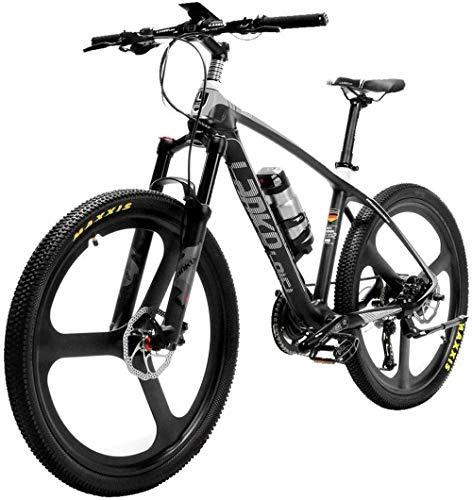 RDJM Bciclette Elettriche, Super-Light 18kg in Fibra di Carbonio Bici di Montagna elettrica PAS Bicicletta elettrica con Altus Hydraulic Brake