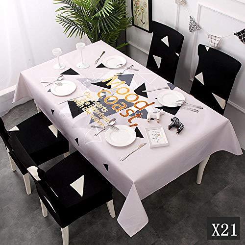 Yruog_tablecloth Manteles Juego de sillas de Mantel a Prueba de Agua Moderno y Cuadrado, Mantel Rectangular Cuadrado, Mantel, Cocina, Fiesta, hogar, Tabl X21, 4 Piezas Sillar