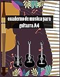 cuaderno de musica para guitarra A4: cuaderno de musica pentagrama, tablatura guitarra A4 100 páginas, 7 pentagramas 6 TABLA. Por página , regalo ... el cumpleaños de Navidad de Acción de Gracias