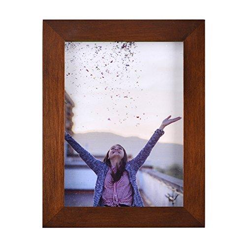 RPJC 10x15 cm Marco de Fotos de Madera Maciza y Cristal de Alta Definición para Pared o Sobremesa Marrón
