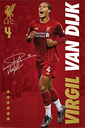 Liverpool FC Maxi Poster 61 x 91,5 cm Virgil Van Dijk Plastifié