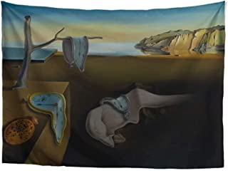 World Classic Art Masterpiece Tapestry Series|Salvador Dalí, The Persistence of Memory, Expressionism, 1931. Classical Art Tapestry, Wall-Hanging Antique, Vintage, Collection,Home Décor
