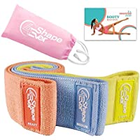 4EverShape Anti Slip Fabric Resistance Bands for Legs and Butt