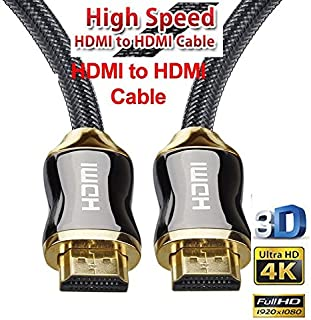 HDMI Cable (4K UHD HDMI 2.0 Ready) - Braided Cord - Ultra High Speed 18Gbps - Gold Plated Connectors - Ethernet & Audio Re...