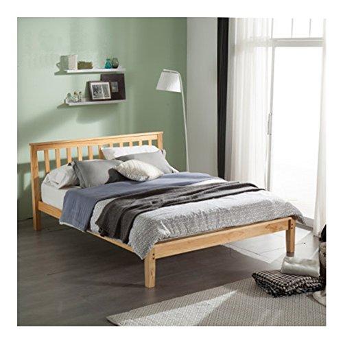 PAINTS.CUI modern design massief houten bed met hoofdeinde, futonbed (110 x 93 x 215 cm)