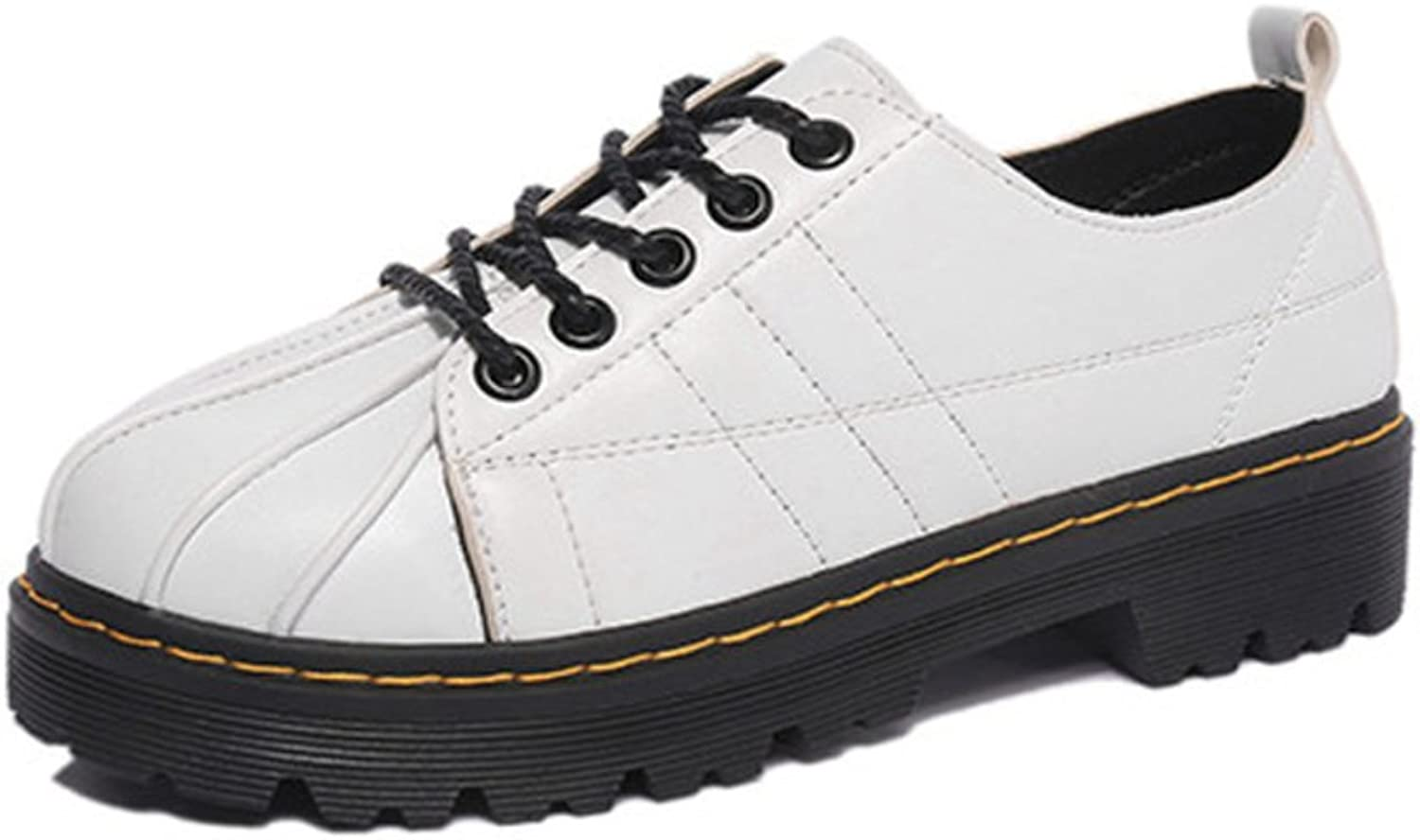 Spring and Autumn Leisure shoes Retro Shell-Toe Lacing shoes Martin College Wind shoes British Student shoes