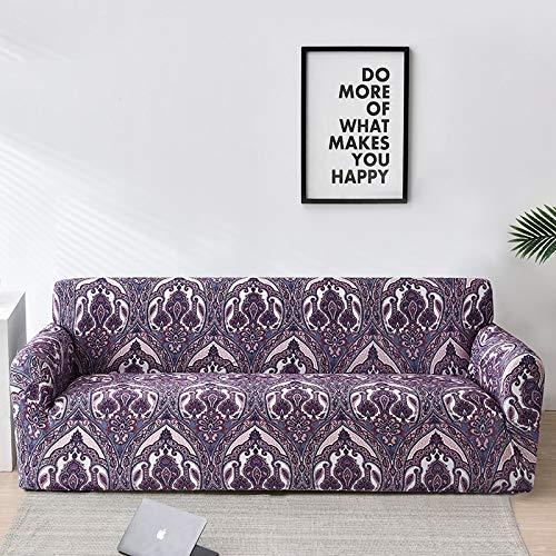 WXQY Gitter Sofabezug elastische Schattierung Sofabezug Wohnzimmer Sofabezug Ecksofa Handtuch Sofabezug Schutzkissenbezug A14 1-Sitzer