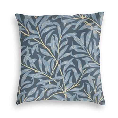 N \ A Funda de almohada de terciopelo, impresión de doble cara, Willow Bough por William Morris Original funda de almohada con cremallera oculta, hermosa funda de almohada estampada