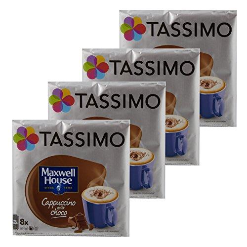 Tassimo Maxwell House Cappuccino Choco, Kaffee, Kaffeekapsel, T-Disc, Schokolade, 32 Portionen