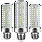 lampadine led e27 20w led bianco freddo 6000k,led mais lampadine,equivalenti 200w lampada alogena,2200lm sostituire lampadine a incandescenza da 150w~200w,alta luminosità cri85,non dimmerabile,3 pezzi