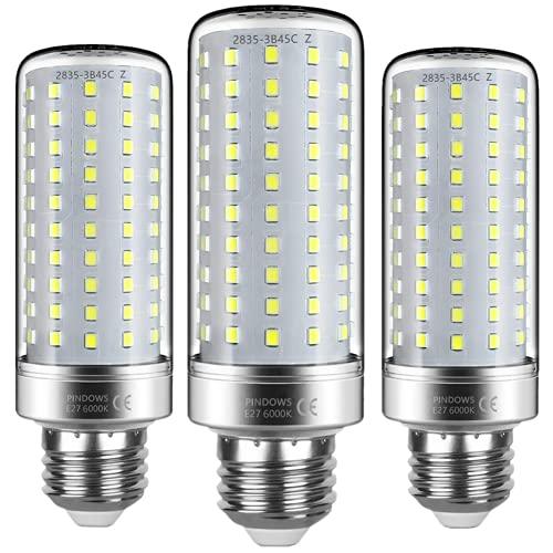 Bombilla LED E27 20W Blanco Frío 6000k,LED Maíz Bombilla,200W Bombilla Incandescente Equivalente,2200LM Puede reemplazar 150W~200W Lámpara Halógena,Alto Brillo CRI 85 ,No Regulable,Paquete de 3