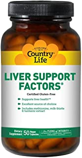 Country Life Liver Support Factors Clean Liver Health & Detoxification Support - Added Immune Support with Choline, Milk T...