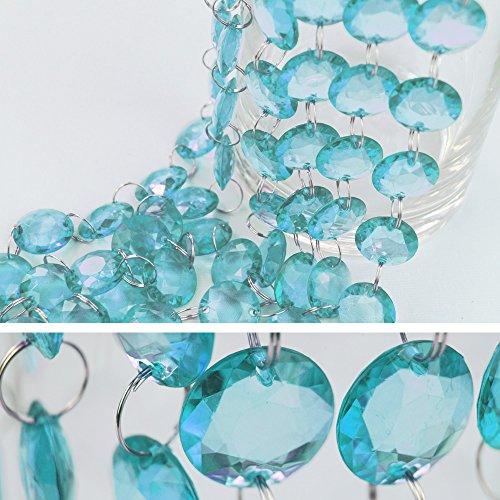 goodymax 1 m Kristallgirlande 18 mm Türkis - Kristallkette Kristallketten