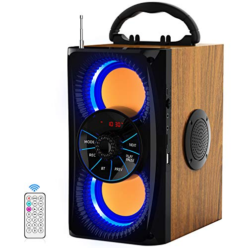 Wireless Bluetooth Speaker with lights 10W HD Sound and Bass