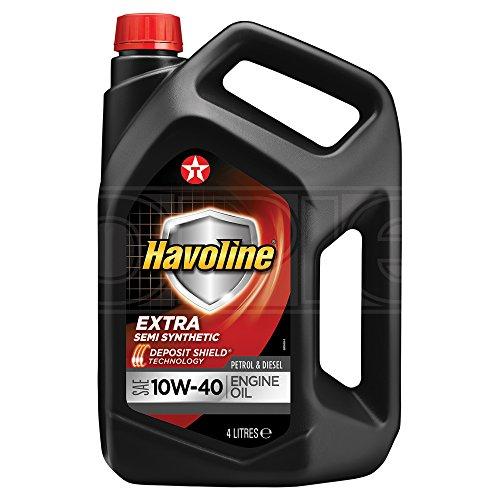 Texaco Havoline Extra 10W-40 - Aceite semi sintético para motor (4 L)