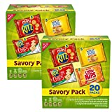 Nabisco Savory Cracker Variety Pack, RITZ, Cheese Nips, Wheat Thins & RITZ Toasted Chips Sour Cream and Onion, Halloween Treats, 40 Snack Packs (2 Boxes)