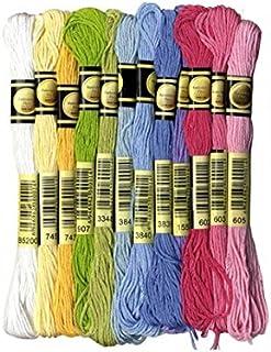Artemio 13030040 Set of 12 Skeins of 8 Metres, Cotton, Multicoloured, 11.5 x 1 x 23 cm