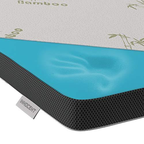 INNOCENT® Gel-Schaum Bambus Topper 90 x 200 cm | 3D-Air-Flow | Viskoelastische Matratzenauflagen 5cm Höhe | Memory Foam Matratzenschoner | für Matratzen & Boxspringbett gegen Rückenschmerzen