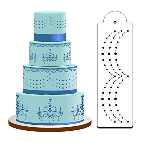 Neue DIY Geburtstagstorte Sprühform Dekorieren Druck Zuckersieb Zucker Craft Modell, Kuchen Prägeform