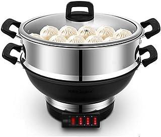 CJTMY Vapeur électrique Wok électrodomestiques Hot Marmite électrique Multifonctionnel Hot Pot antiadhésif Vapeur