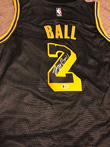 Lonzo Ball Signed Los Angeles Lakers Jersey Beckett Bas 3 - Autographed NBA Jerseys