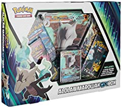 1 never-before-seen foil promo card featuring Alolan marowak-gx 1 foil oversize card featuring Alolan marowak-gx 4 Pokémon TCG booster packs 1 Code card for the pokémon trading card game online Turn up the heat with the Alolan marowak-gx box Genuine ...
