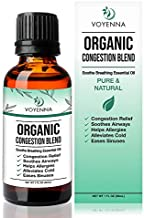 Essential Oil Breathe Blend for Diffuser, Humidifier, Aromatherapy & Rub with Peppermint & Eucalyptus Oils   For Headache, Allergy & Congestion