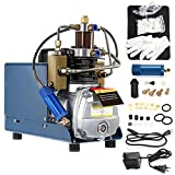BEAMNOVA 110V Electric High Pressure Air Pump Air Compressor 4500 PSI for Inflatables Paintball Tank Car Tires with Intake Filter Water Separator Gauge