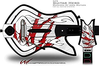WraptorSkinz WZ on White Decal Style Skin - fits Warriors Of Rock Guitar Hero Guitar (GUITAR NOT INCLUDED)