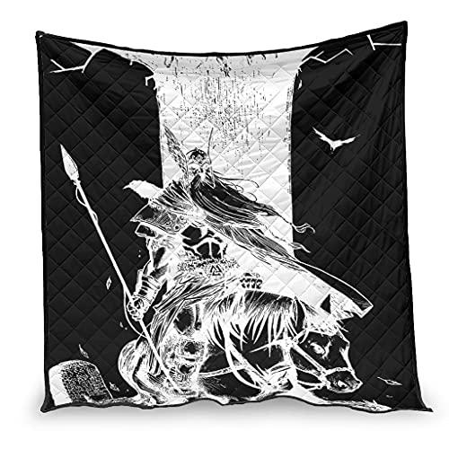 Dessionop Vikingo Odin Raven Wolf Yggdrasil - Impresión cómoda para sofá cama (200 x 230 cm), color blanco