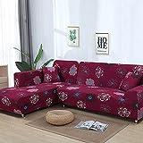 WXQY Funda de sofá elástica con combinación de Esquina en Forma de L Funda de sofá de Color sólido Todo Incluido Funda de sofá Antideslizante para Sala de Estar A7 1 Plaza