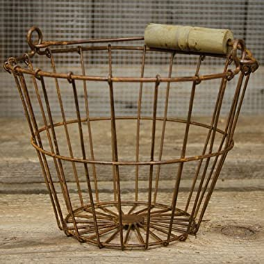 Wire Egg Basket 6 H 8 Dia Rust