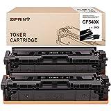 Ziprint Cartuchos de tóner compatibles HP 203X CF540X para HP Color Laserjet Pro MFP M254nw M254dw M254dn M281fdw M281fdn M281cdw M280nw (2 negros)