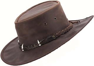 Cappello in pelle Barmah 1018 Kangaroo Crackle //Marrone