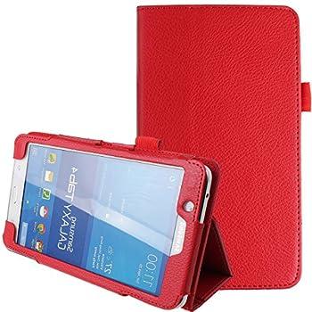 Samsung Galaxy Tab 4 7.0,7-Inch Case,Tab 4 7.0 Case,Samsung Tablet Case 7 inch,Ultra Slim Folding PU Leather Stand Case Cover for Samsung Galaxy Tab 4 7 7.0  Tablet SM-T230 SM-T231 SM-235,Red
