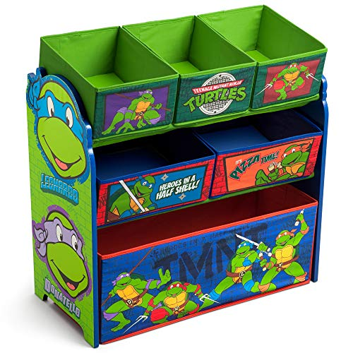 Delta Children 6-Bin Toy Storage Organizer, Ninja Turtles