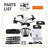 Kaemma SG700-D Foldable Drone with 4K HD Full Camera Professional Smart Follow Optical Flow Positioning with 2 Battery VS S20 Drone White