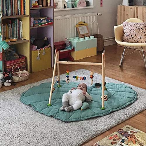 Mufuny Green Gary Leaf Type Baby Play Mat Cotton Soft Baby Sleeping Mats Floor Carpet Baby Gym Activity Room Decor Crawling Blanket Pad ( Color : Green )