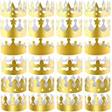 SIQUK 30 Pieces Paper Crowns Gold Party Crown Paper King Hats for Party and Birthday Celebration