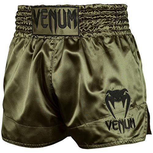 Venum Classic Short de Muay Thai Mixte Adulte, Kaki/Or, FR :