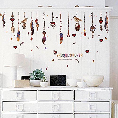 Wandaufkleber ZOZOSO Federanhänger Mit Herz-Einbauschränken Schrank Kühlschrank Wohnzimmer Schlafzimmer Tv Hintergrund Dekorative Wandaufkleber