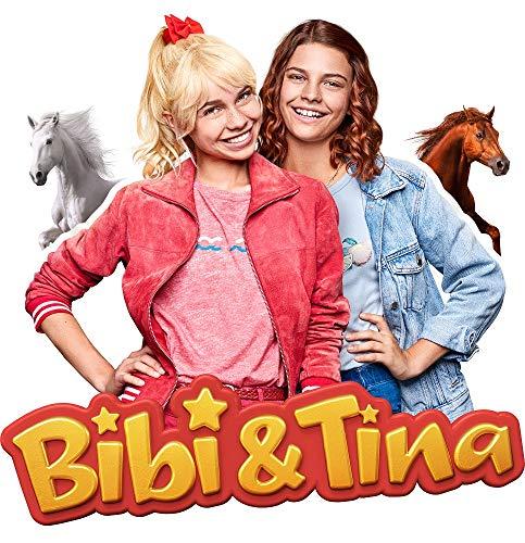 Muursticker Bibi en Tina - verkrijgbaar in verschillende motieven en maten - Made in Germany - TV-serie paarden Amadeus Sabrina Martinshof meisjes kinderkamer 22cm x 22cm Met Amadeus en Sabrina.