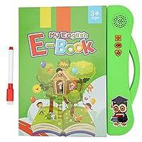 教育用本のおもちゃ、無臭の教育用子供用読書機、サウンドブック、子供向けホームギフト(green)