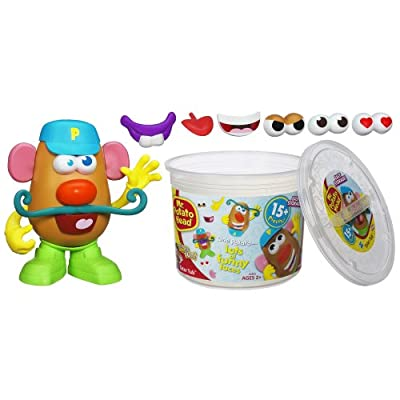 Playskool Mr. Potato Head Tater Tub Set Parts and Pieces Container Toddler Toy for Kids