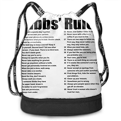 Rucksäcke,Sporttaschen,Turnbeutel,Daypacks, NCIS Gibbs' Rules Bundle Backpack Funny Travel Backpack