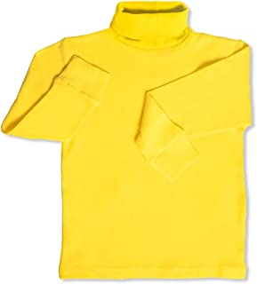 Solid Girls Turtleneck 100% Cotton Kids Shirt (2 Toddler-10 Years) Variety Colors