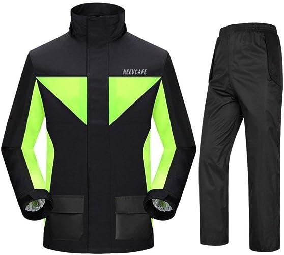 HONGYU Imperméable pour homme réutilisable (veste imperméable et costume de pluie) pour adultes Travail à l'extérieur avec capuchon et coupe-vent pour adultes