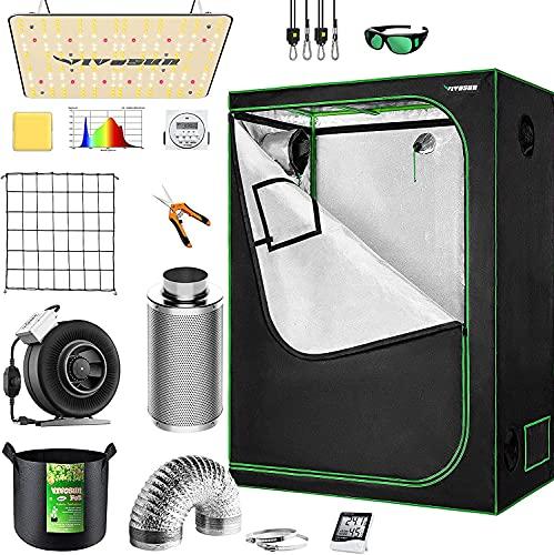 VIVOSUN Grow Tent Kit Complete, 48'x24'x60' Grow...